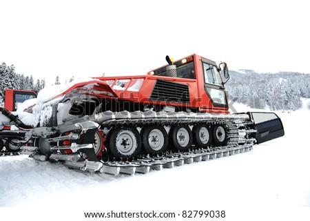 Snow vehicle - stock photo