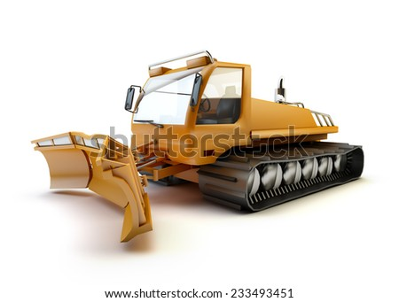 Snow vehicle isolated on white background