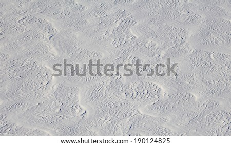snow waves. - stock photo