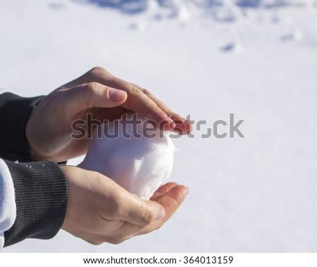 snowball - stock photo