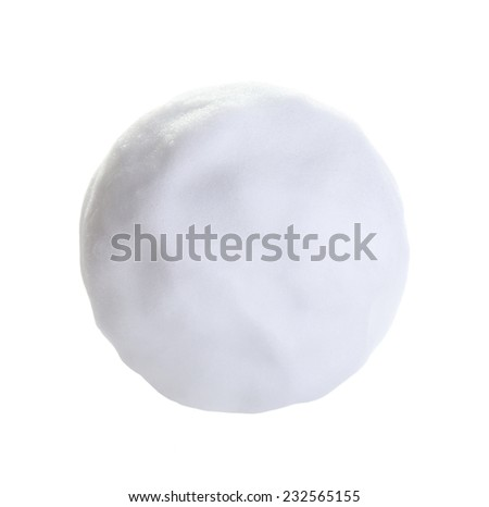 Snowball isolated on white background - stock photo