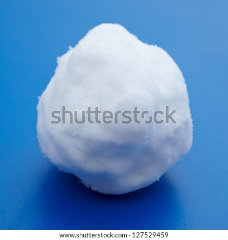 Snowball  on a blue background - stock photo