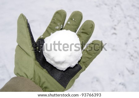 snowball ready for takeoff - stock photo