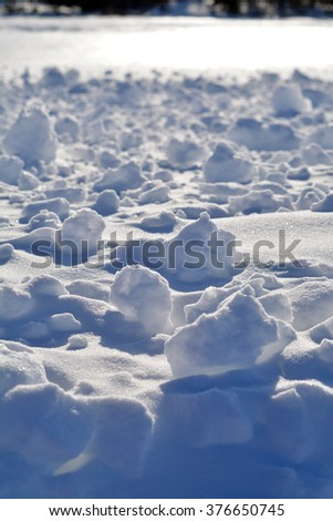 Snowballs and Shadows - stock photo