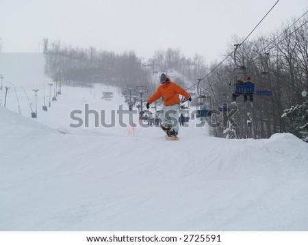snowboarder - stock photo