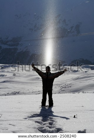 snowboarder in relax - stock photo