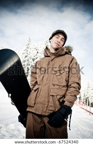 Snowboarder ready for Fun - stock photo