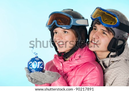 Snowboarding is useful for young people - stock photo