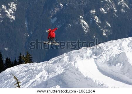 Snowboarding tricks - stock photo