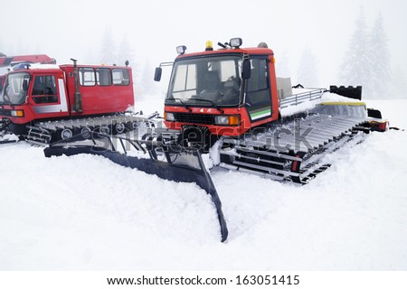 Snowcat on snow