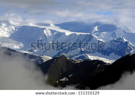 snowcovered mountains in the interior Alaska