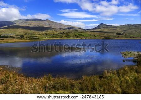 snowdonia national park gwynedd north wales uk - stock photo