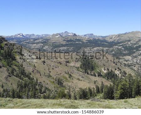 snowed mountain - stock photo