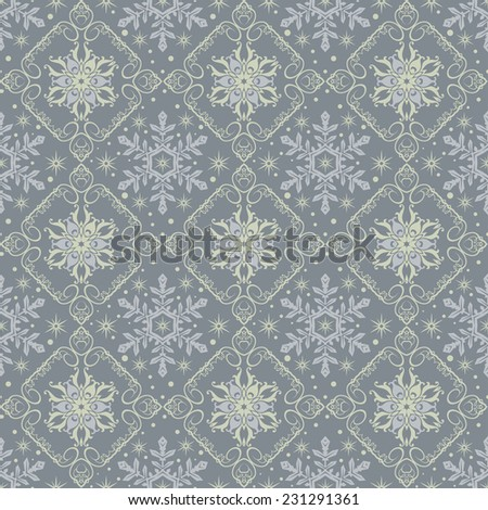 Snowflake Abstract Background.