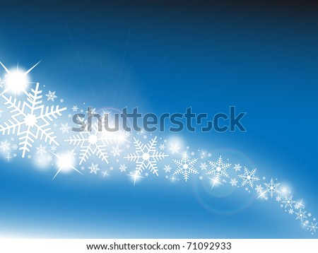 Snowflake - abstract background - stock photo