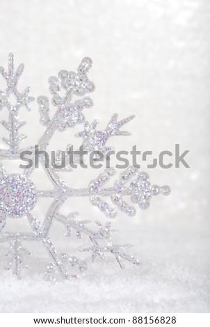 snowflake closeup - stock photo