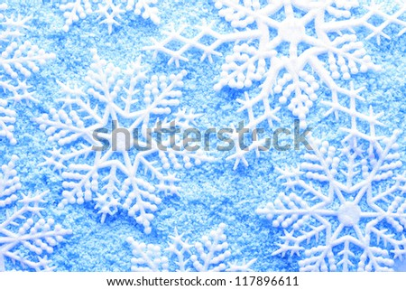 Snowflake in snow - stock photo