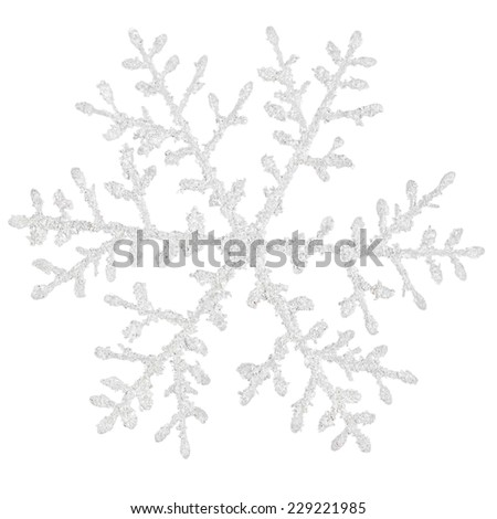 Snowflake on a white background  - stock photo
