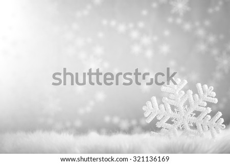 Snowflake on abstract background,Closeup. - stock photo