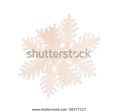 snowflake on white background