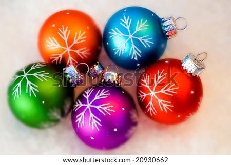 Snowflake Ornaments - stock photo