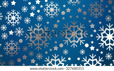 Snowflake pattern with copy space