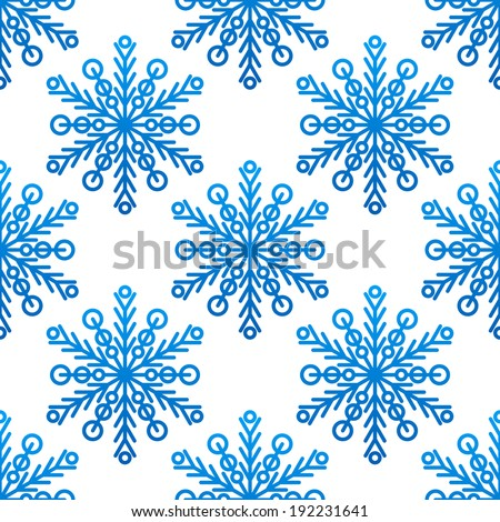 Snowflake seamless pattern for new year or christmas design. Vector version also available in gallery - stock photo