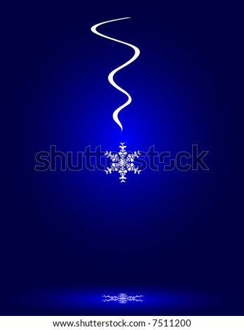 Snowflake with Reflection - stock photo