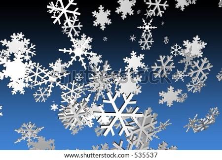 Snowflakes - stock photo