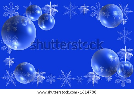 snowflakes and bubbles background for winter and Christmas
