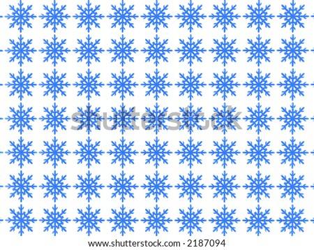 snowflakes background (see more in my portfolio) - stock photo