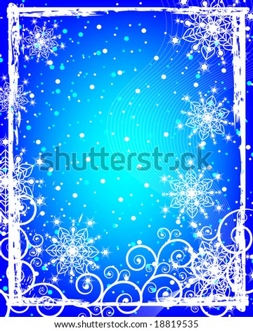 Snowflakes. Christmas and New Year's background is decorated with white pattern on a blue background JPG (See Vector  Also In My Portfolio)