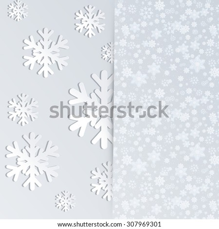 Snowflakes fly from envelope . - stock photo
