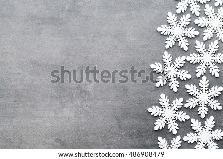Snowflakes white, christmas decoration. Greeting cards.
