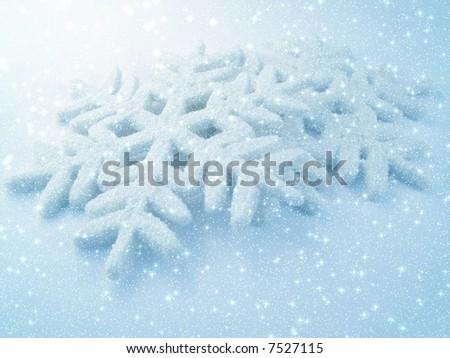 Snowflakes. Winter decoration - stock photo
