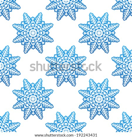 Snowflakes winter seamless pattern background for holiday design. Vector version also available in gallery - stock photo