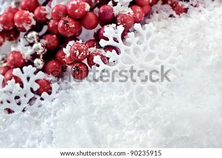 Snowflakes.Winter Snow Background.Christmas - stock photo