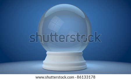 snowglobe on a blue gradient background - stock photo