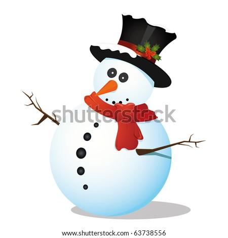 Snowman - stock photo