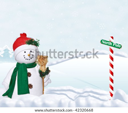 snowman at the north pole