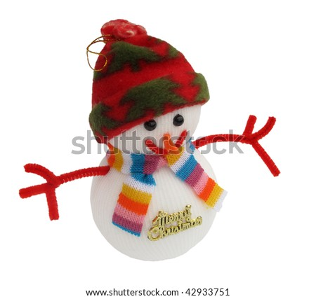 Snowman christmas toy decoration