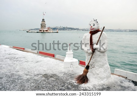 snowman in the istanbul city
