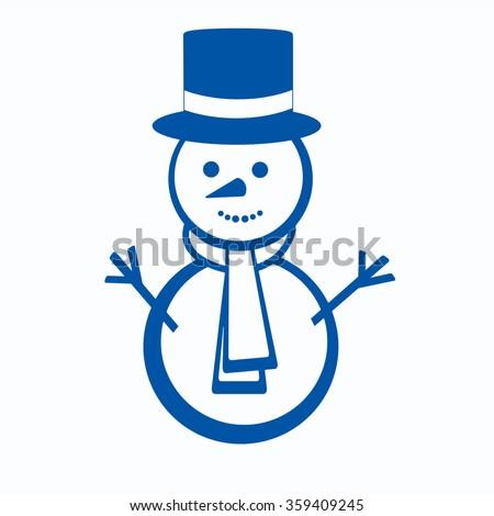 Snowman vector outline