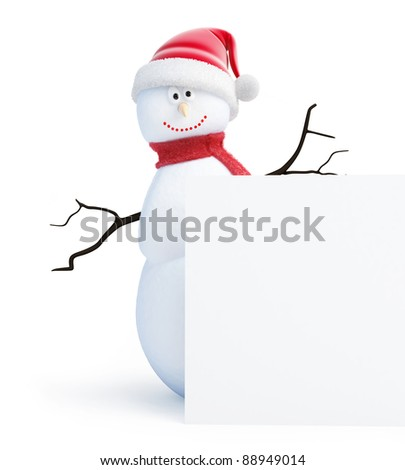 snowmen santa hat on a white background