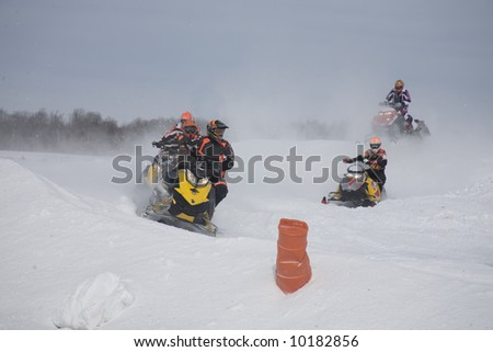 snowmobile racing at -25c