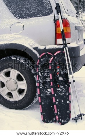 Snowshoe Time - stock photo
