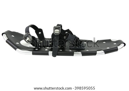 Snowshoes isolated on white background - stock photo