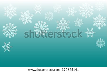 snowy background with placeholder for text