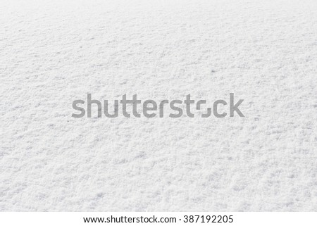 snowy crust, white background - stock photo