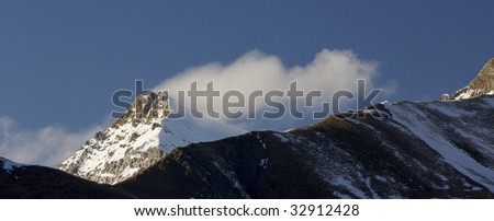 Snowy mountain in Pyrenees